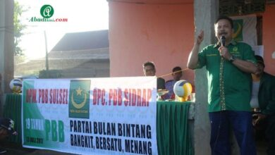 Photo of Sambut Milad ke 19 Tahun, PBB Sidrap Gelar Turnamen Bola Volly Bulan Bintang Cup 1