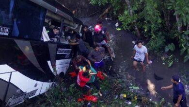 Photo of Bus Pariwisata yang Terjun ke Sungai di Blitar Angkut Rombongan Guru Pengawas dan Kepala Sekolah TK