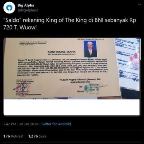 Photo of King of The King Punya Saldo Rekening Rp720 Triliun, Berikut Klarifikasi dari Bank BNI