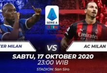 Photo of Link Streaming Pertandingan Derby Della Madonnina Inter Milan Vs AC Milan Sabtu 17 Oktober 2020 Gratis